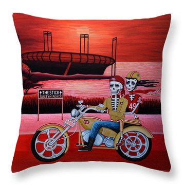 Ninerrider Throw Pillow by Evangelina Portillo