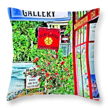 Ning Hou Gallery Throw Pillow