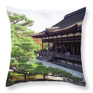 Ninna-ji Temple Garden - Kyoto Japan Throw Pillow