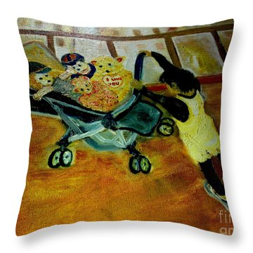 Ninni's Family Throw Pillow