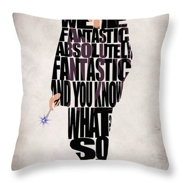 Ninth Doctor - Doctor Who Throw Pillow