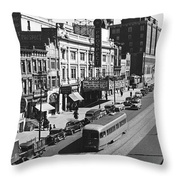 Ninth Street In Brooklyn Throw Pillow by Underwood Archives