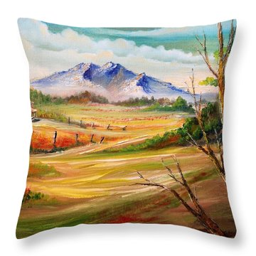 Nipa Hut 2  Throw Pillow