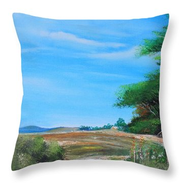 Nipa Hut In The Barrio Throw Pillow