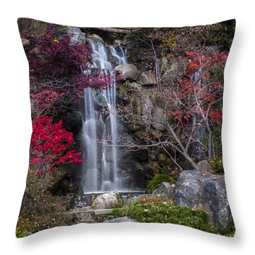 Throw Pillow featuring the photograph Nishi No Taki by Sebastian Musial