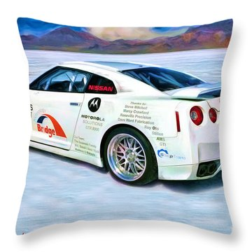 Nissan Salt Flats Throw Pillow