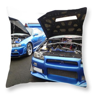 Nissan Skylines Throw Pillow