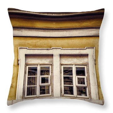 Nitty Gritty Window Throw Pillow by Joan Carroll