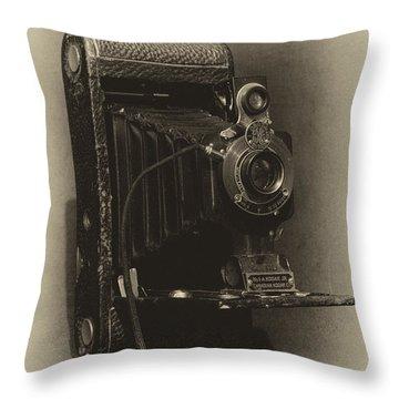 No. 1-a Kodak Jr. Throw Pillow by Leah Palmer