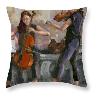 Sold No. 1 Trio In Triptych Throw Pillow