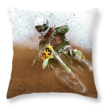 No. 23 Throw Pillow by Jerry Fornarotto