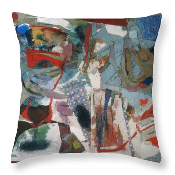 No 3 In A Series Of Assemblages Throw Pillow