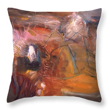 No 3 In A Series Of Human Landscapes Throw Pillow