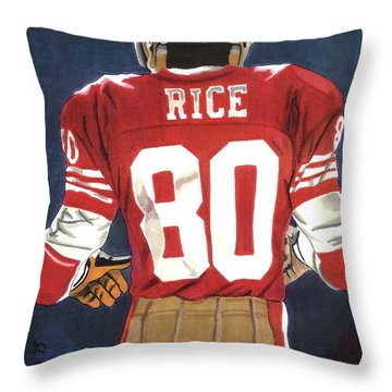No. 80 Throw Pillow