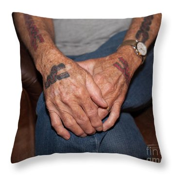 Throw Pillow featuring the photograph No Age Limit by Roselynne Broussard