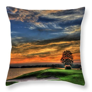 No Better Day Golf Landscape Art Throw Pillow