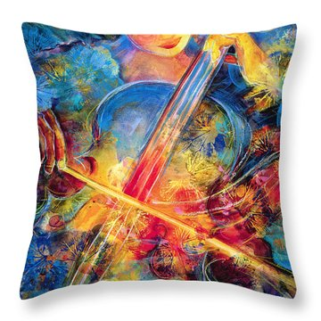 No Blue Notes Throw Pillow by Jen Norton