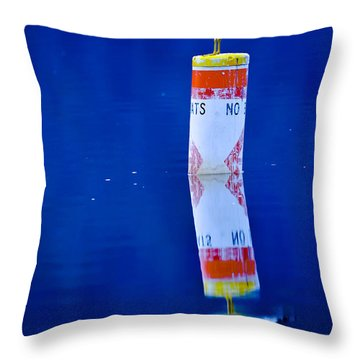 Throw Pillow featuring the photograph No Boats by Brian Stevens