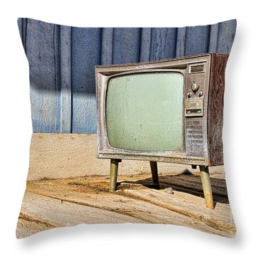 No Channel Surfing - Tv By Diana Sainz Throw Pillow
