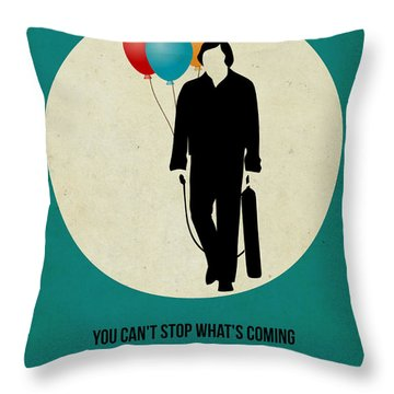 No Country For Old Man Poster 2 Throw Pillow by Naxart Studio