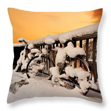No Cycling Today Throw Pillow