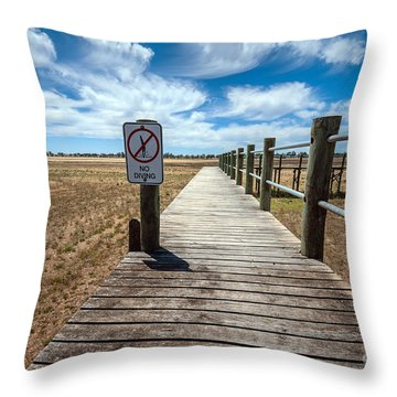 No Diving Throw Pillow