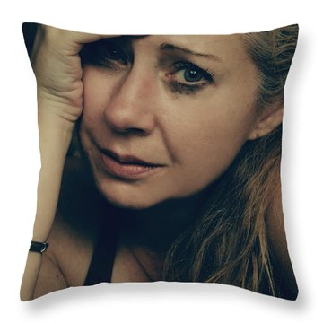 No Easy Decisions Throw Pillow by Laurie Search
