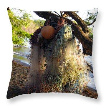 No Fishing Today Ometepe Island Nicaragua Throw Pillow by Kurt Van Wagner