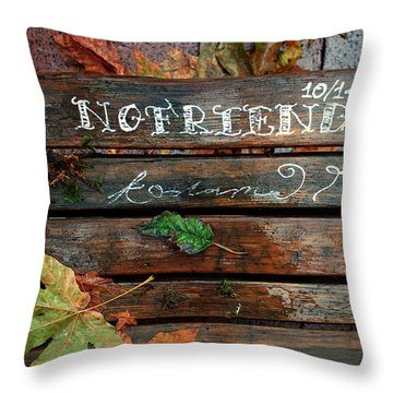 No Friends Throw Pillow by Gwyn Newcombe