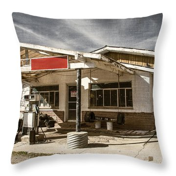 Throw Pillow featuring the photograph No Gas by Steven Bateson