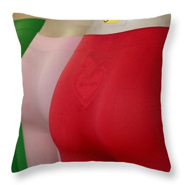 Throw Pillow featuring the photograph No If Ands Or Butts 2 by Lorraine Devon Wilke