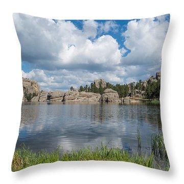 Throw Pillow featuring the photograph Sylvan Lake South Dakota by Patti Deters