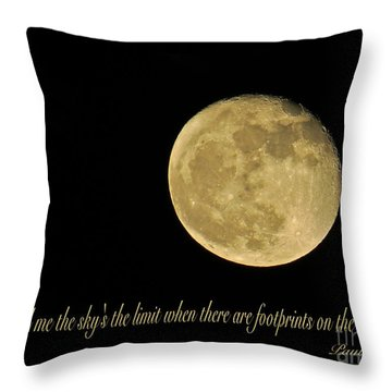 No Limit  Throw Pillow by Nancy Patterson
