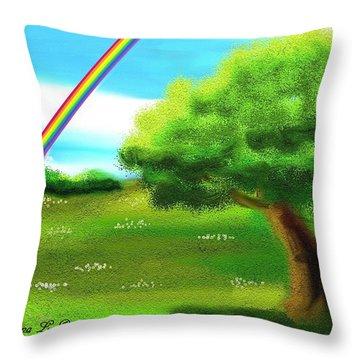 No More Rain Throw Pillow by Shana Rowe Jackson