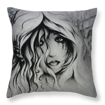 No More Tears Throw Pillow by Rachel Christine Nowicki
