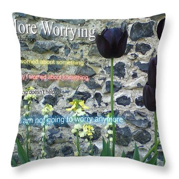 No More Worrying Throw Pillow