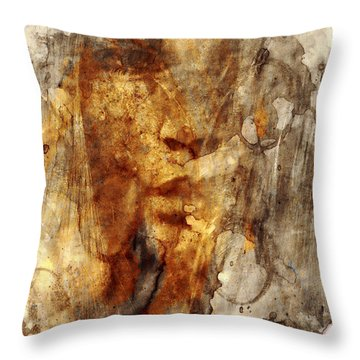 No Name Face Throw Pillow by Marian Voicu