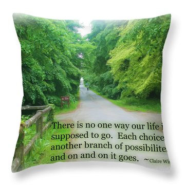 No One Way Throw Pillow
