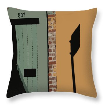 Throw Pillow featuring the photograph No Park Nola  by Ecinja Art Works