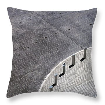 Throw Pillow featuring the photograph No Parking by Glenn DiPaola