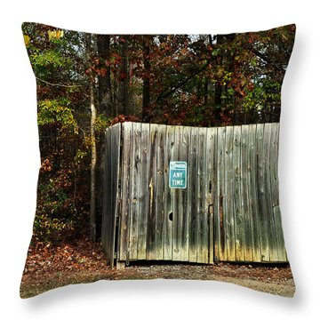 No Parking Throw Pillow by Paulette B Wright