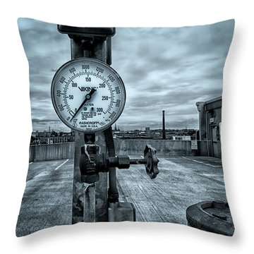 No Pressure Or The Valve At The Top Of The City  Throw Pillow by Bob Orsillo
