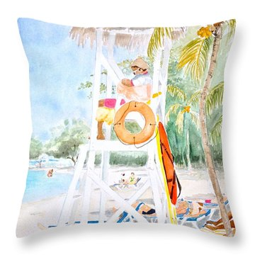 No Problem In Jamaica Mon Throw Pillow