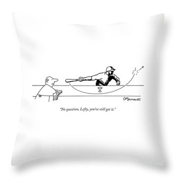 No Question Throw Pillow