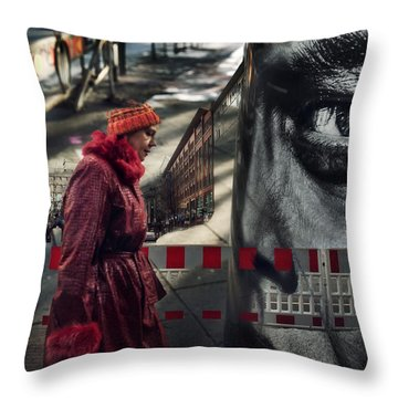 Throw Pillow featuring the photograph Big Brother by Michel Verhoef