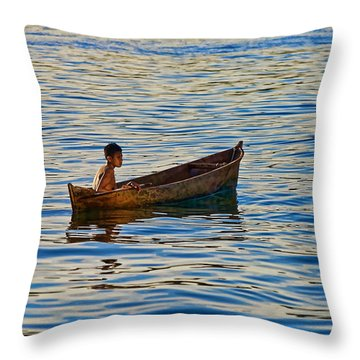 Throw Pillow featuring the photograph No School by Britt Runyon