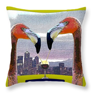 Throw Pillow featuring the photograph No Ssssslurping by I'ina Van Lawick