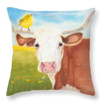 No Tree Necessary Throw Pillow by Arlene Crafton