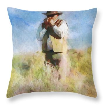 No Useless Cares Throw Pillow by Greg Collins