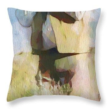 No Useless Cares - Panoramic Throw Pillow